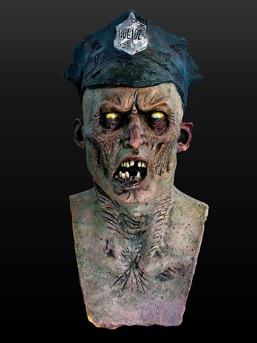 Zombie-Cop Masque HalFaibleeen Grusel Latex