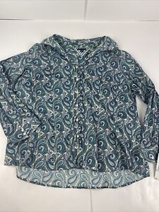 NWT Women's Tommy Hilfiger Paisley Long Sleeve Button Up Shirt Size 20 New