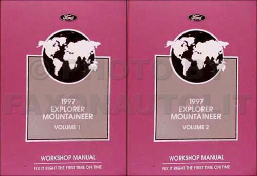 1997 Explorer Mountaineer Shop Manual Set Ford Mercury Repair Service Workshop