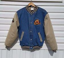 Disney Store Winnie the Pooh Denim Jacket Varsity Coat Jeans Shirt Size Small