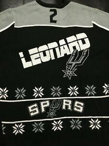 Details about San Antonio Spurs SAS Kawhi Leonard #2 Ugly Christmas Sweater Men's Large USED