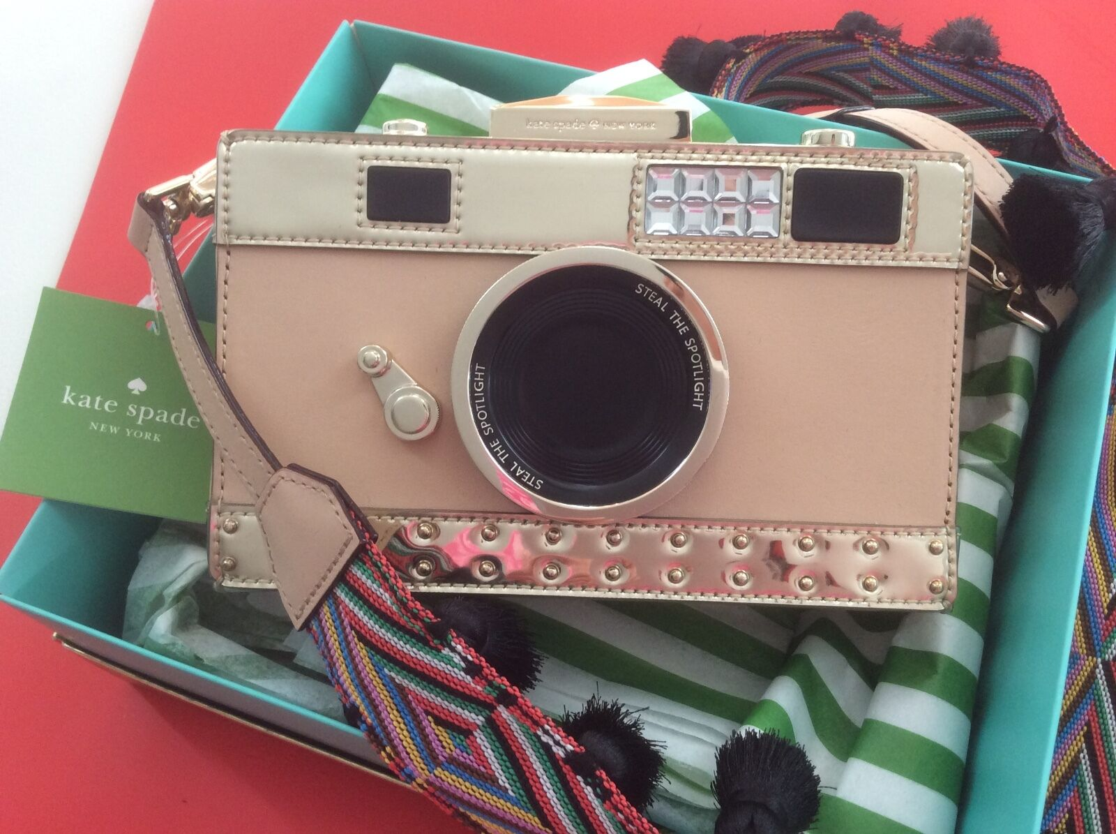 Nwt Kate Spade E Things Up Camera Bag Crossbody Clutch In Original Packaging