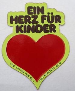 Details Zu Aufkleber Ein Herz Für Kinder Mercedes Benz 80er Sticker Autocollant Youngtimer
