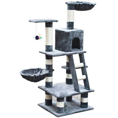 Cat Tree Condo Furniture Scratcher Post Beige//Gray//Blue w//o Paw Prints 11 Models