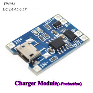 2Pcs-Micro-USB-1A-TP4056-Battery-Charger-Module-with-Over-Current-Protection