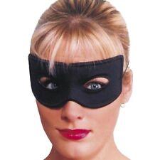 Unisex Bandit Eye Mask Fancy Dress Plain Black Costume Masquerade Robber Thief