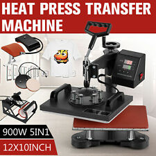 5 In 1 12x10 Digital T Shirt Heat Press Sublimation Transfer Machine Mug Hat
