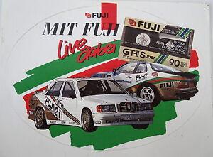 Promotional Stickers Fuji Porsche 944 Mercedes 190 80er Touring Car Motor Sports