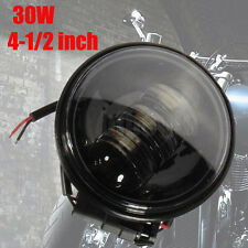"4.5"" Motorcycle Black Projector Daymaker LED Light Bulb Headlight Lamb Fr Harley"