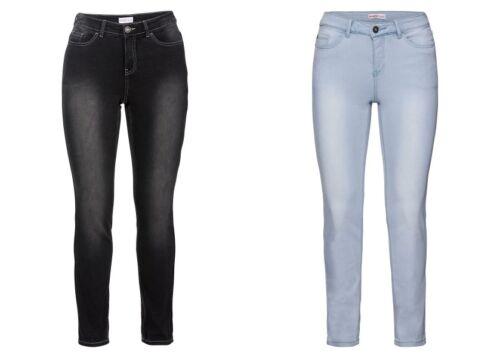 Sheego Damen Skinny Power Stretch Jeans Hose Light Dark Black Blue Denim NEU