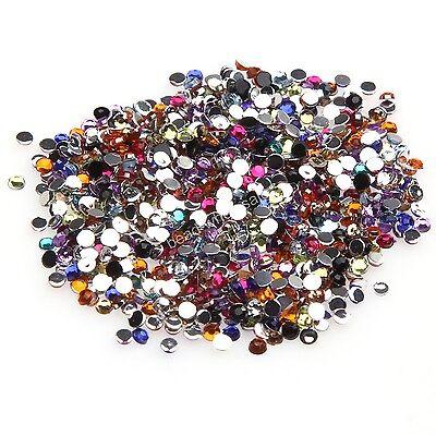2000pcs Wholesale Crystal Flatback Acrylic Rhinestones Beads  Nail Art/Craft,Hot