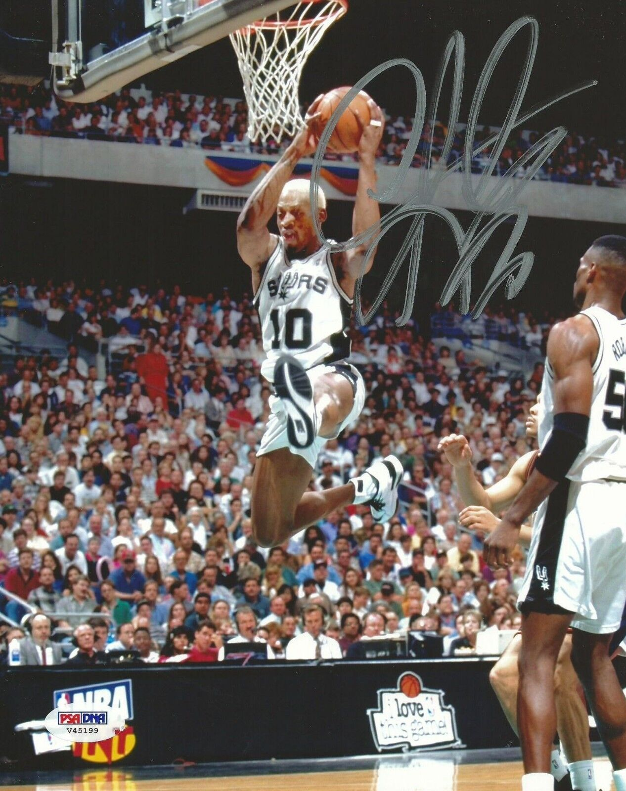 Dennis Rodman Signé Spurs 8x10 Photo PSA   DNA COA Image Autographe Hall Of Fame