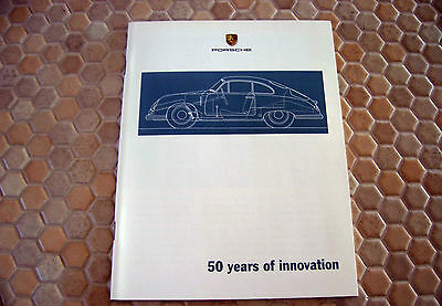 PORSCHE OFFICIAL 50th YEAR SPECIAL INNOVATION BROCHURE 2001 USA EDITION