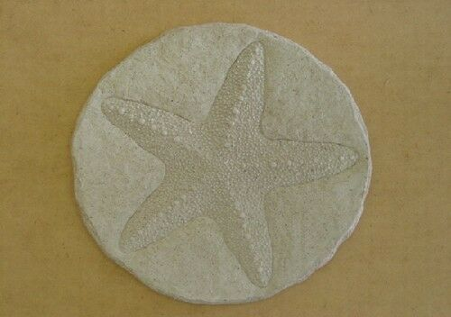 Round Starfish  Stepping Stone Plaster or Concrete Mold 1105 Moldcreations