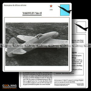 106-02-YAKOVLEV-YAK-15-Fiche-Avion-Airplane-Card