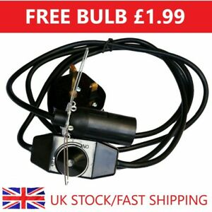 Himalayan Salt Lamp Replacement Dimmer Cable With Bulb Ce Certified Uk Fitting Ebay