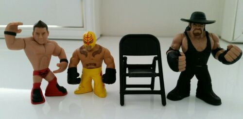 WWE Set of 4 Undertake, The Miz, Rey Mysterio Rumblers & 1 Chair New No Tags