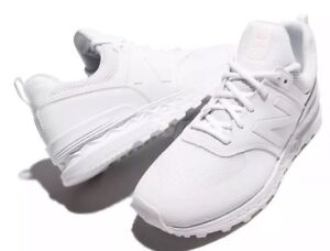 competitive price 4fe4e 450da Details about New Balance MS574SWT D 574 Triple White Men Running Shoes  Sneakers MS574SWT 12