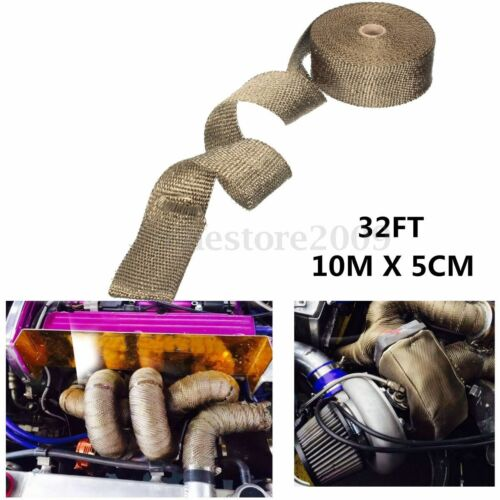 Fiberglass Exhaust Insulator Tape High Heat Header Pipe Turbo Wrap 10M 32 FT