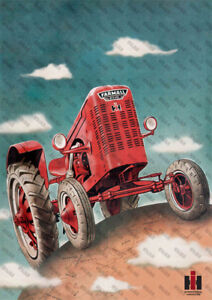 International Harvester Farmall Diesel Tractor Poster (A3)