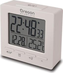 Oregon-Scientific-Sveglia-digitale-Doppio-allarme-Snooze-Calendario-Bianco-RM511