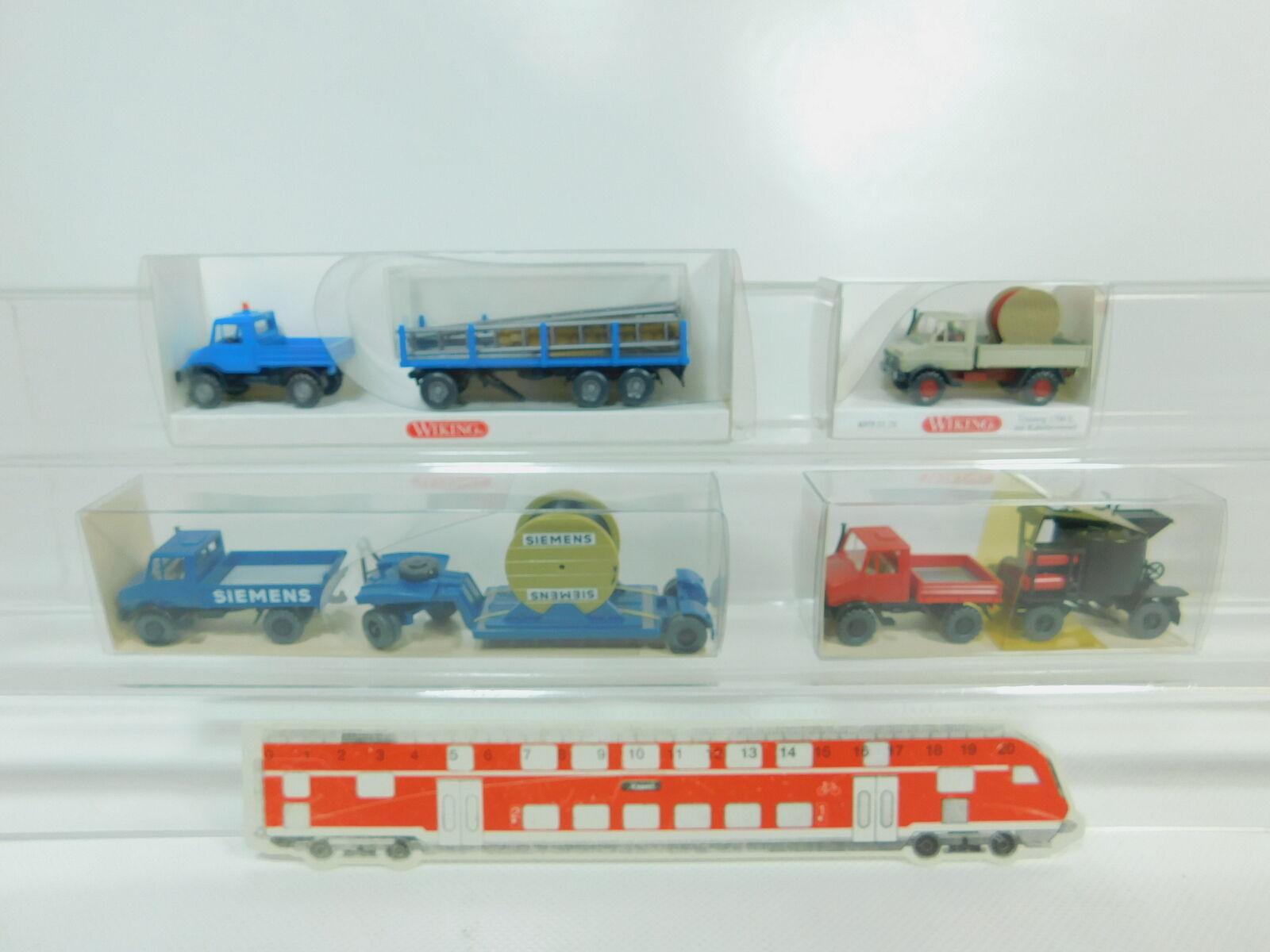 servicio considerado Bo474-0, 5  4x 4x 4x Wiking h0 1 87 Unimog  0375 + 405 + 502 1 Siemens + 392, Neuw + embalaje original  venta de ofertas