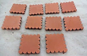 Lot of 10 Square Natural Skirting Leather Rosettes Conchos Horse Tack Sizes New