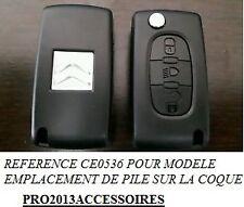 Coque clé plip Boitier clef télécommande Citroën C4 PICASSO*C4*BERLINGO***CE0536