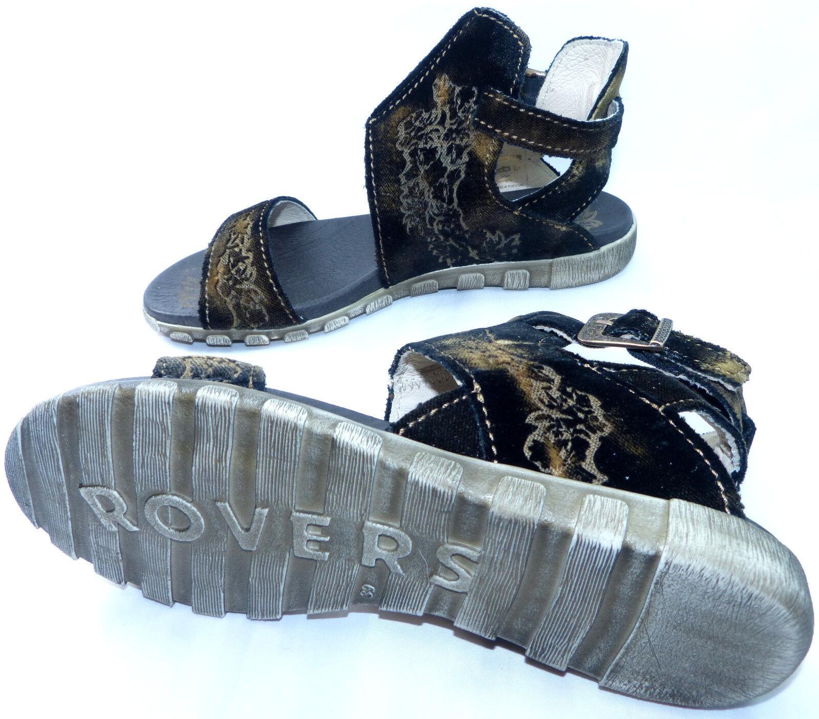 Rovers Sandalette Gr. samt 40 schwarz  samt Gr. Stiefel Stiefelette Leder neu 9a4254