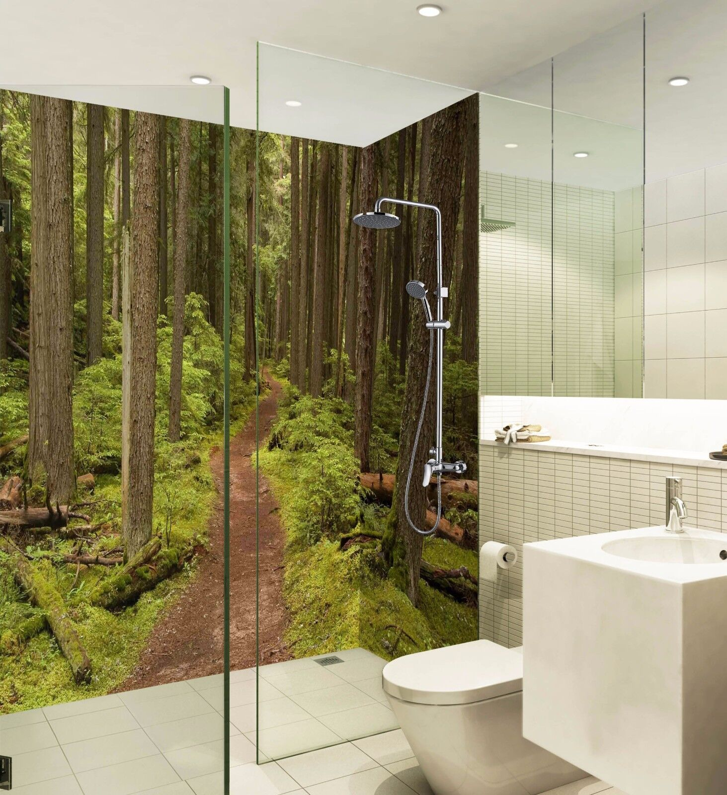 3D Forest path 656 WallPaper Bathroom Print Decal Wall Deco AJ WALLPAPER UK