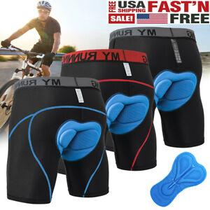 Men's Bike Cycling Underwear Shorts 4D Padded Bicycle MTB Liner Mountain Biking