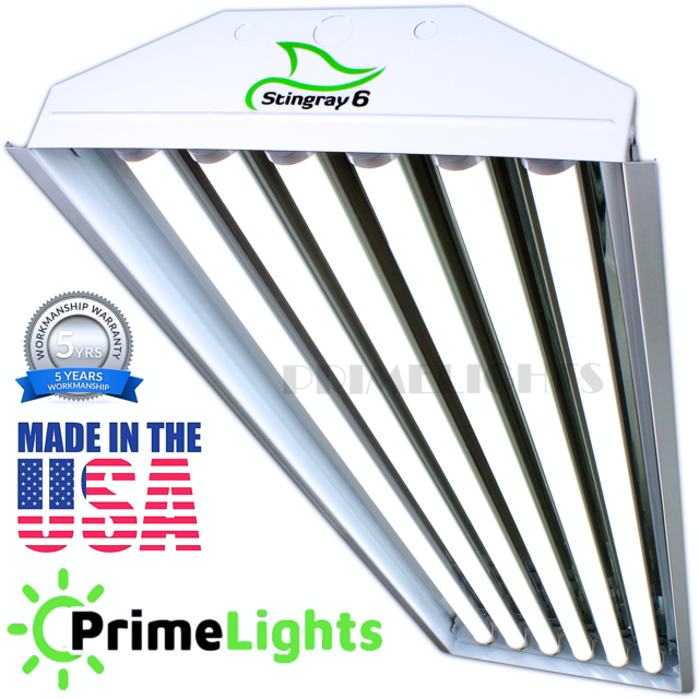 LED HIGH BAY 6-Bulb T8 Lamp Warehouse Auto Shop BRIGHT Light INSTANT ON LED