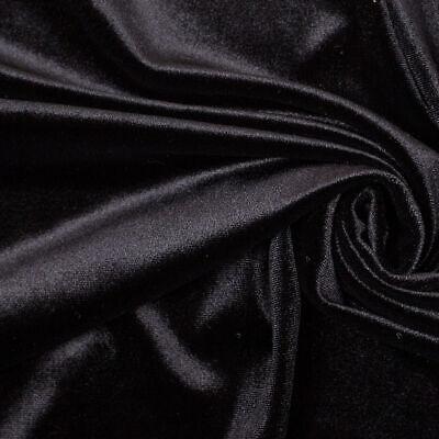 Dark Red Velour 4 Way Stretch Spandex Velvet Fabric PV01DR