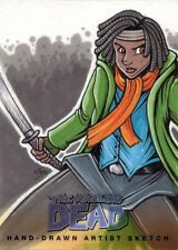 Walking Dead Comic Series Two Sketch Card by Mike Vasquez of Michonne