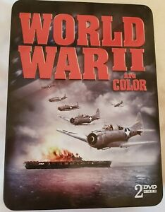WWII In Color DVD 2-Disc Set 2007 Tin Case Great Condition The Battle Of Midway