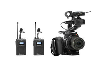 BOYA-BY-WM8-Pro-K2-UHF-Wireless-Microphone-With-LCD-Screen-For-Canon-Nikon-DSLR