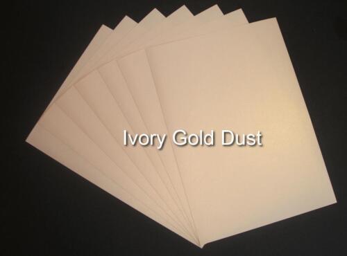 A4 Oro en Polvo Brillo Papel marfil China blanco doble cara de papel