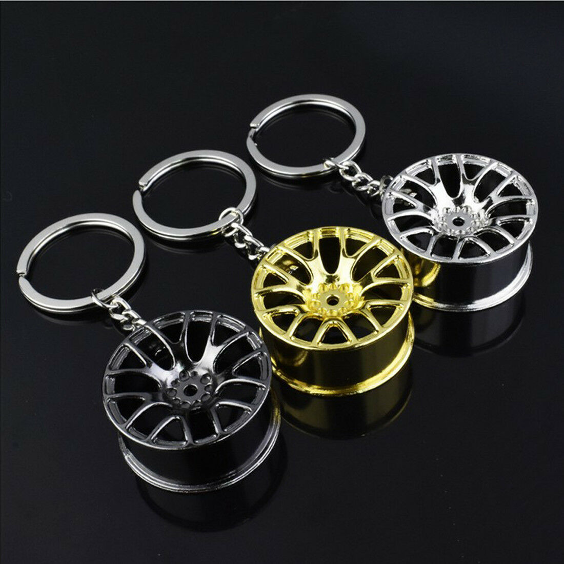 Creative Car Auto Part Model Keychain Key Chain Ring Keyring Keyfob Holder New