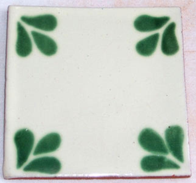 C142- Mexican Handmade Talavera Clay Tile Folk Art 4x4