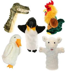 Peluche Animal Long Gant Marionnette Noël Agneau Mouton Cockeral Kids Jouet Doux nouveau jeu  </span>