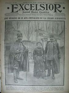 WW1-N-1521-SOMME-ECLUSIER-LEGION-D-039-HONNEUR-Mlle-SEMMER-JOURNAL-EXCELSIOR-1915