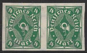 German Reich stamps 1922 MI 226aUu PAIR MLH VF