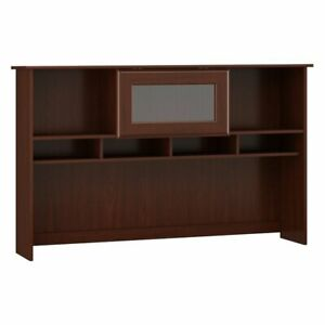 Image Is Loading Bush Furniture Cabot Collection Hutch In Harvest Cherry