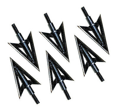 6pcs metal sharp broadheads 2 fixed blade 100 grain hunting archery arrow heads