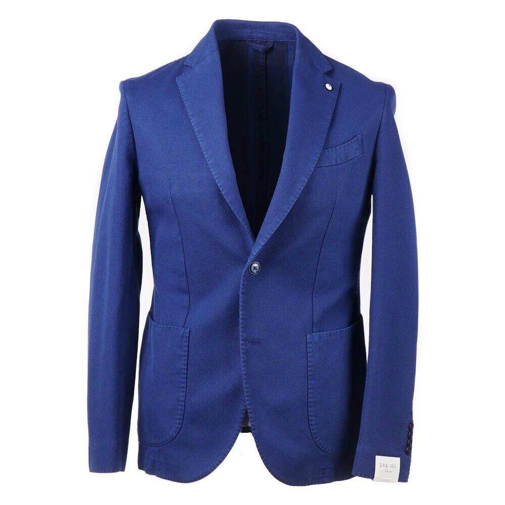 NWT  L.B.M. 1911 Medium bluee Woven Cotton Sport Coat Slim 40 R ()