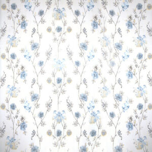 Home Cal Waterproof Self-Adhesive Paper Wallpaper,Blue Flowers,1.48 x 32.8ft