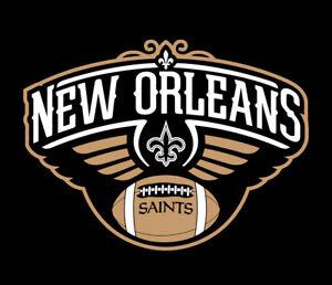 Details About New Orleans Saints Pelicans Shirt Drew Brees Ad Anthony Davis Pels Nola Who Dat