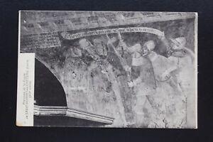 Postcard-Antique-CPA-Mural-Of-La-Crypt-Saint-Cap-The-Castle