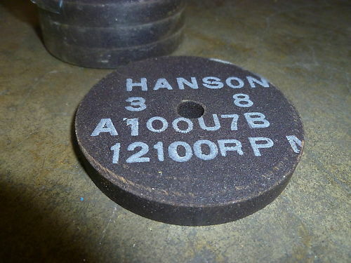 "HANSON GRINDING WHEEL 3/"" X 3//8/"" X 3//8/"" ~ QTY X 20 ~ New"