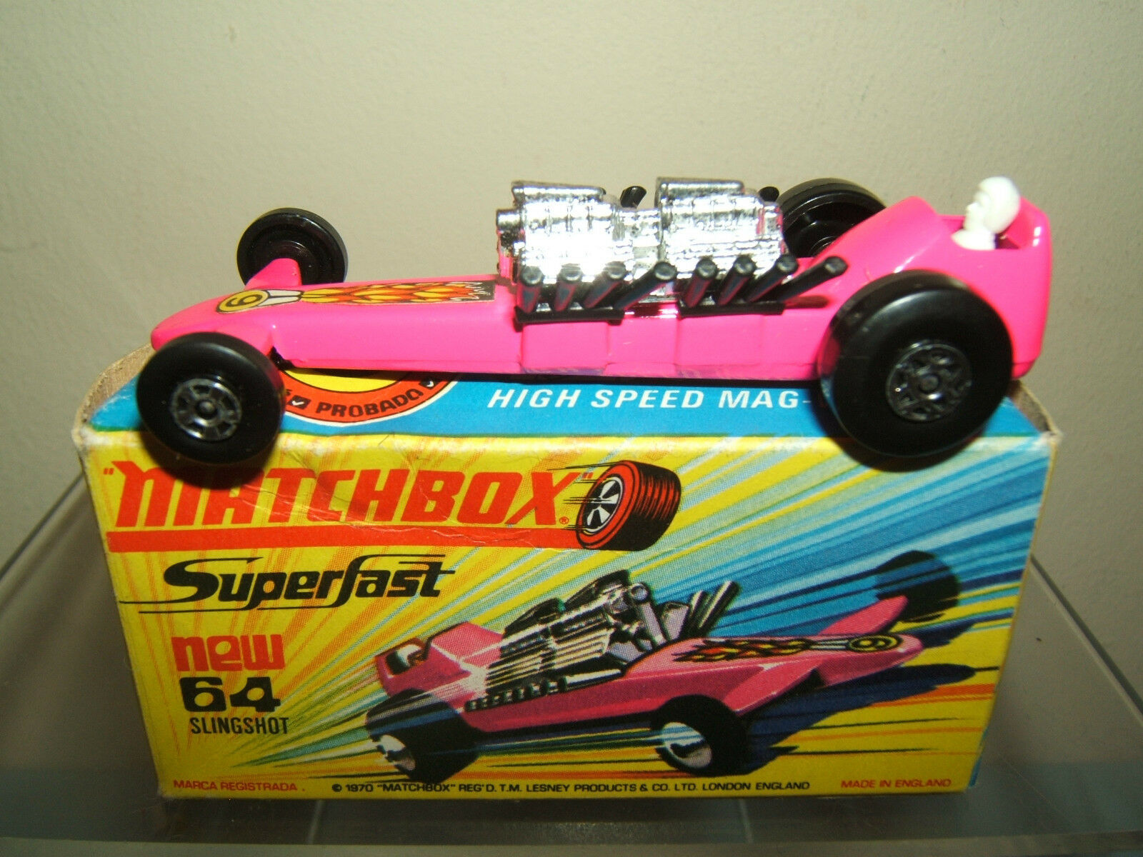 MATCHBOX SUPERFAST  MODEL No.64c      SLINGSHOT DRAGSTER            MIB